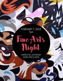 copy of art event flyer
